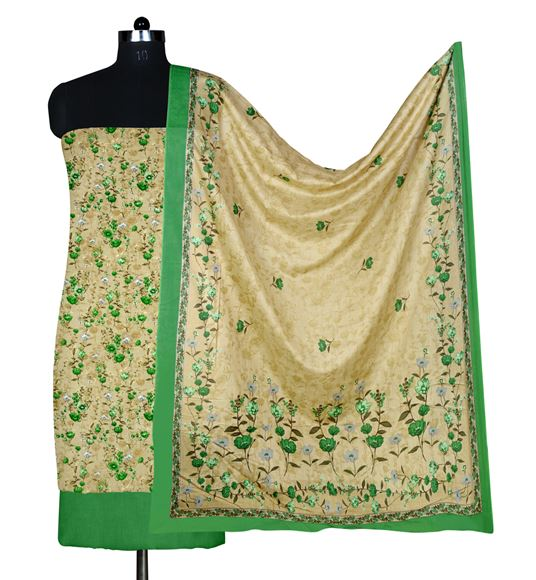 Faserz Green Colored Cotton Suit Dupatta